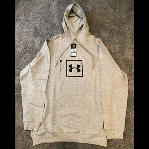 NWT Under Armour Mens Rival Fleece Logo Hoodie